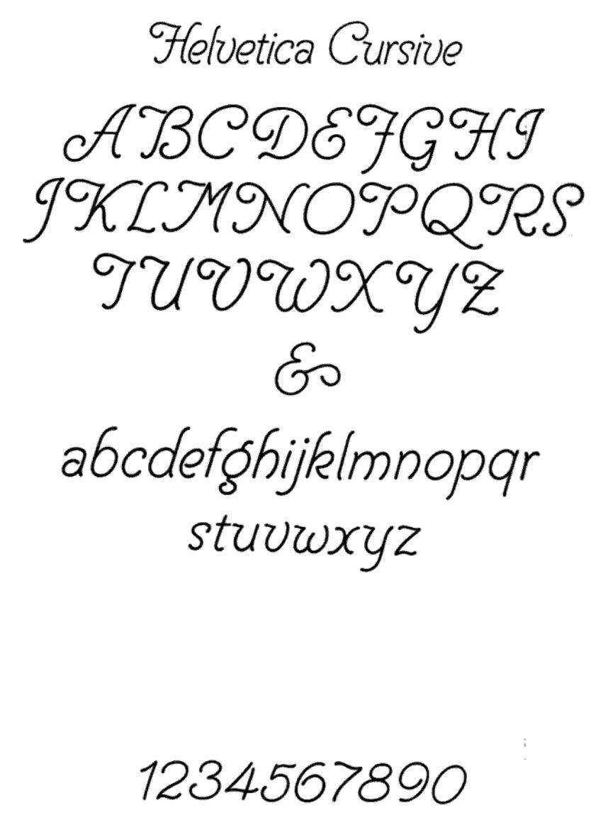 12 names in cursive fonts images