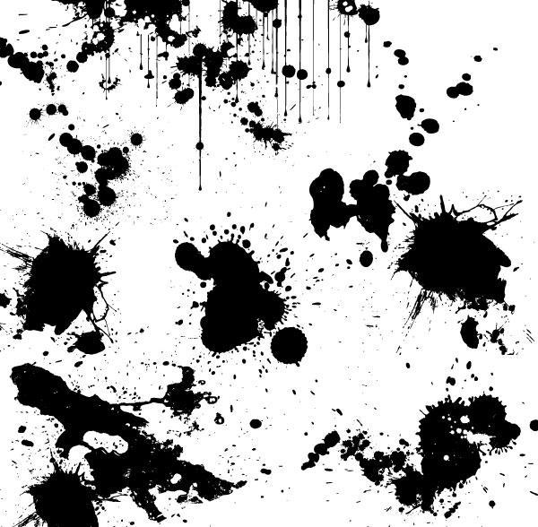 7 Grunge Splatter Vector Images