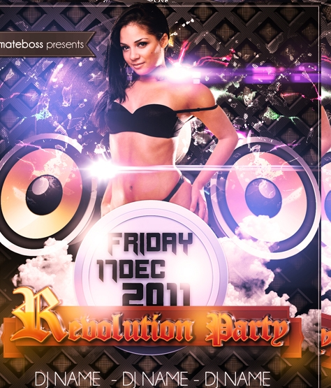 Party Flyer PSD Free Download