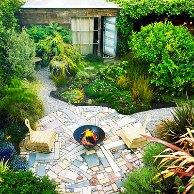 Patio From Recycled Materials