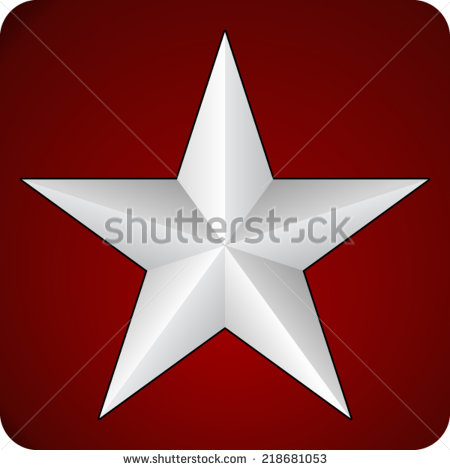 Red with White Stars Background