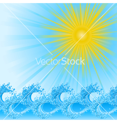 River Wave Vector Art