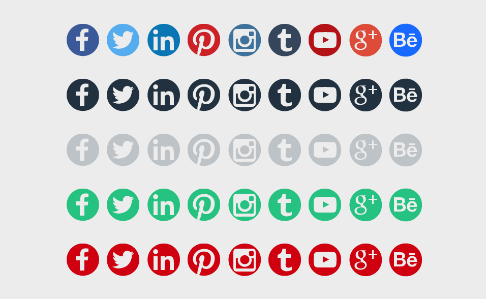 Round Social Media Icons Free Download