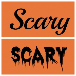 13 Spooky Word Font Images