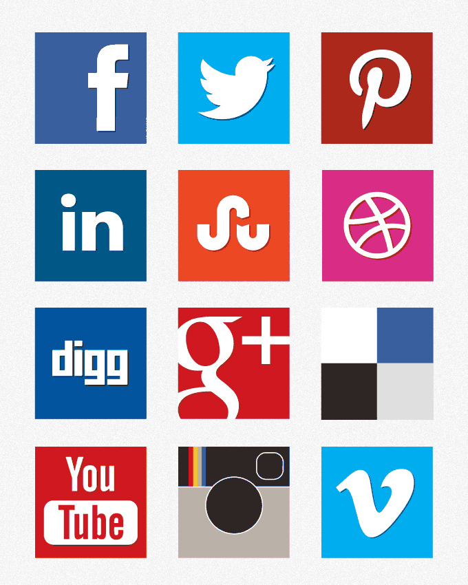 12 Social Media Icon Logo.png Images