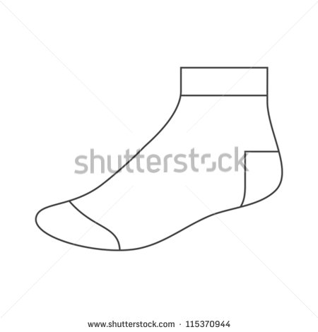 5 Sock Template Vector Images