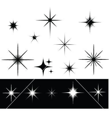 9 Vector Sparkle Star Clip Art Images
