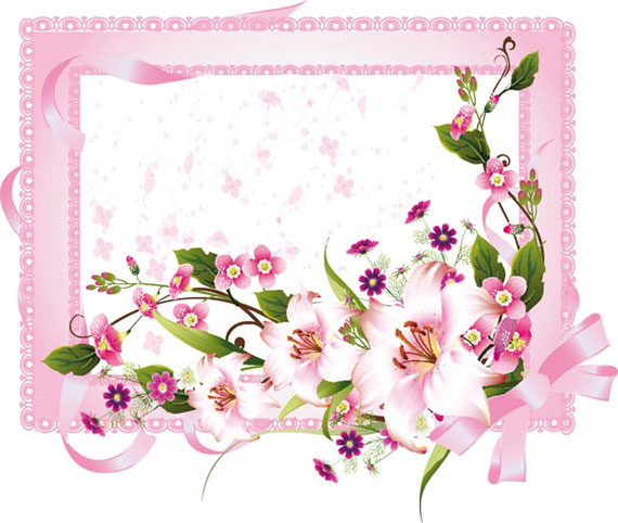 Spring Fresh Flower Frame