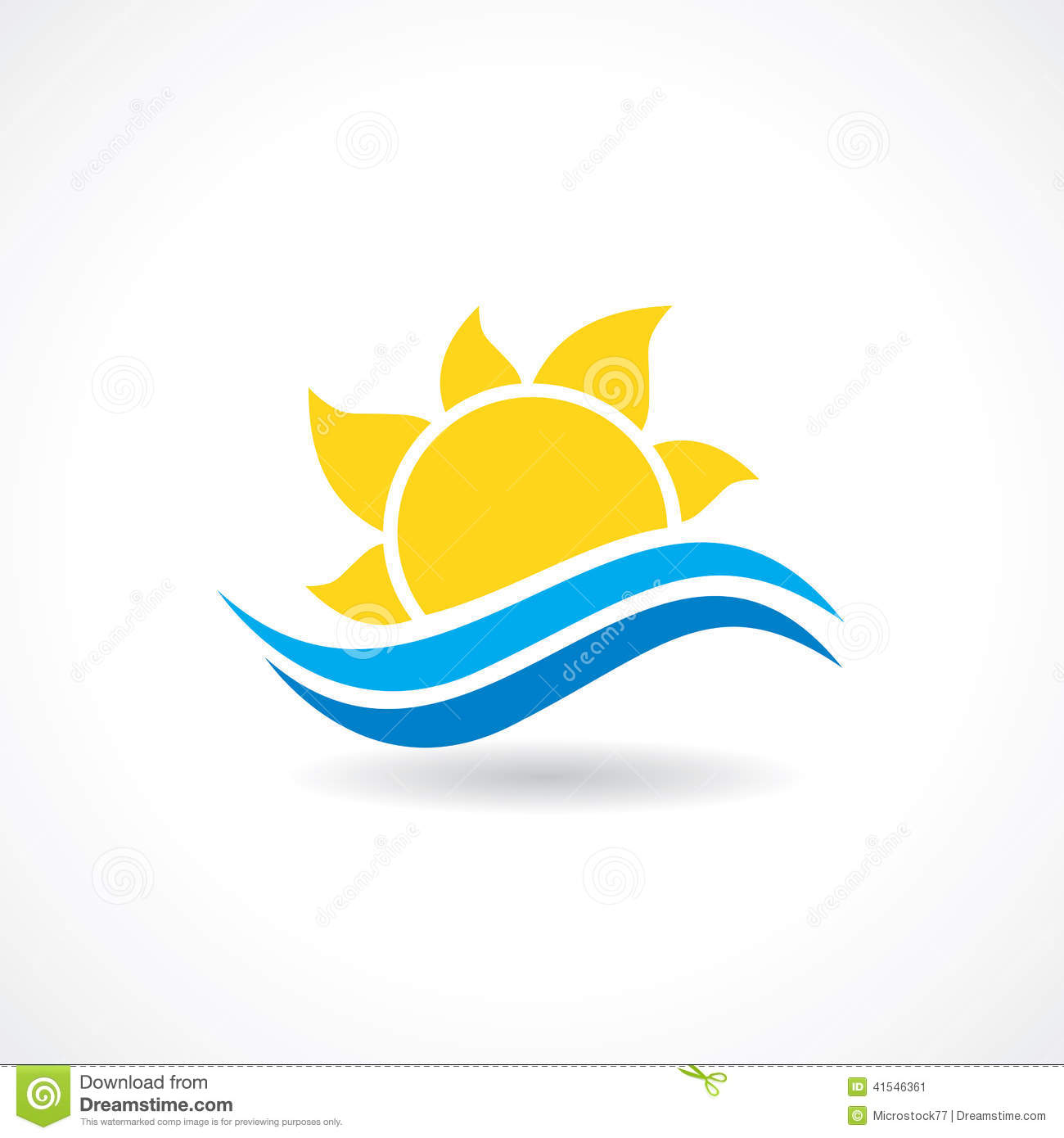 Sun Waves Vector