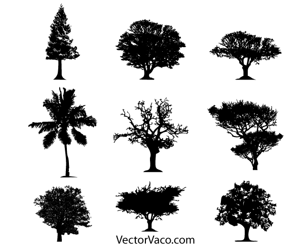 18 Bush Silhouette Vector Free Download Images