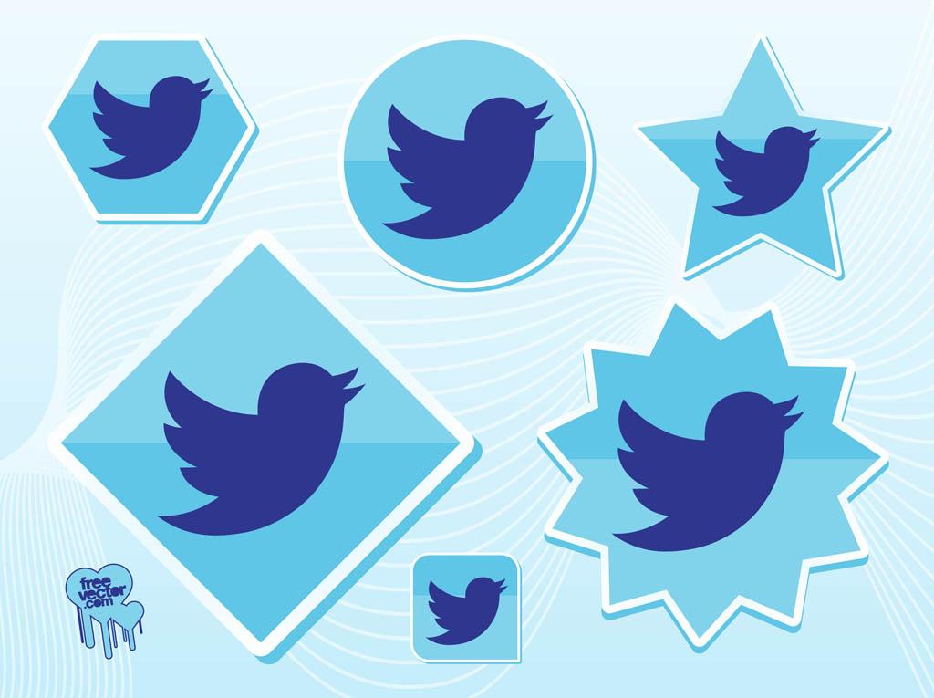 Twitter bird logo vector ai