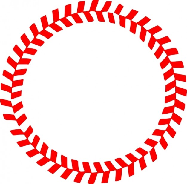 Vector Baseball Stitches Clip Art