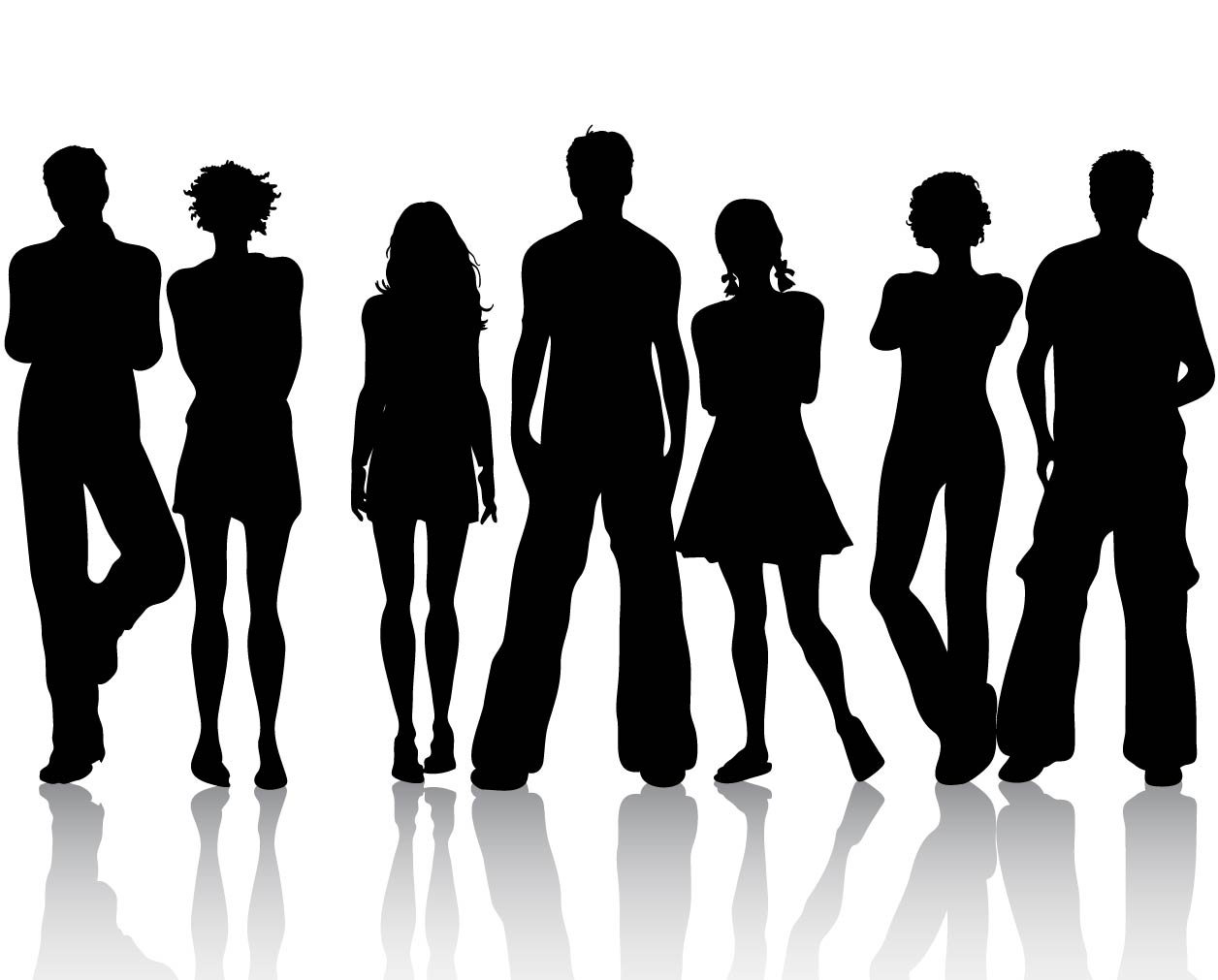 16 Free Vector Silhouettes Of People Images