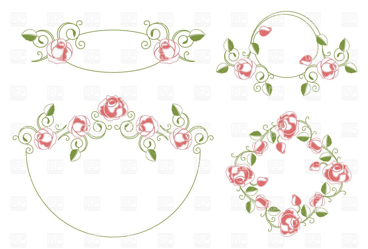 Vintage Wedding Frame Clip Art