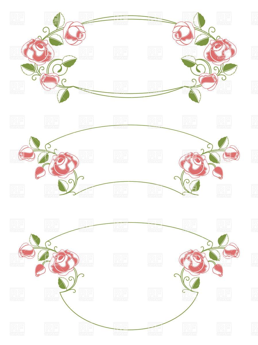 Vintage Wedding Frames Clip Art Free