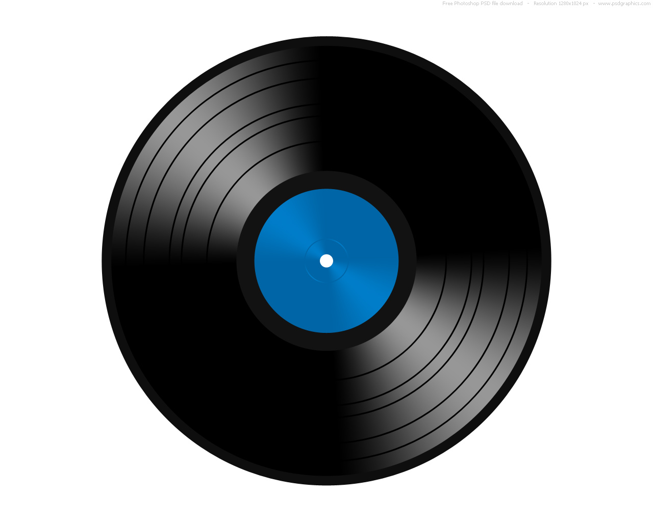 10 Vinyl Record PSD Images
