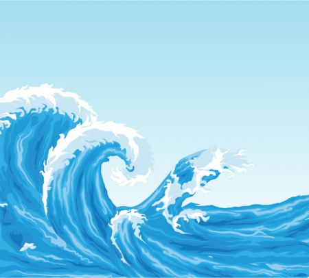 16 Summer Wave Vector Images Free Vector Waves Wave