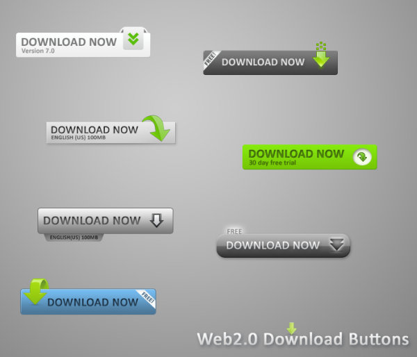 Web Page Buttons Free Download