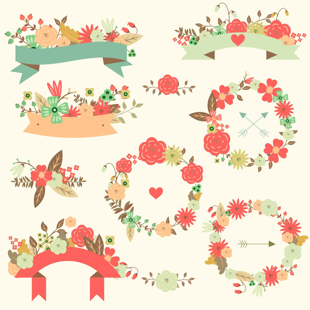 Wedding Flower Vector Free