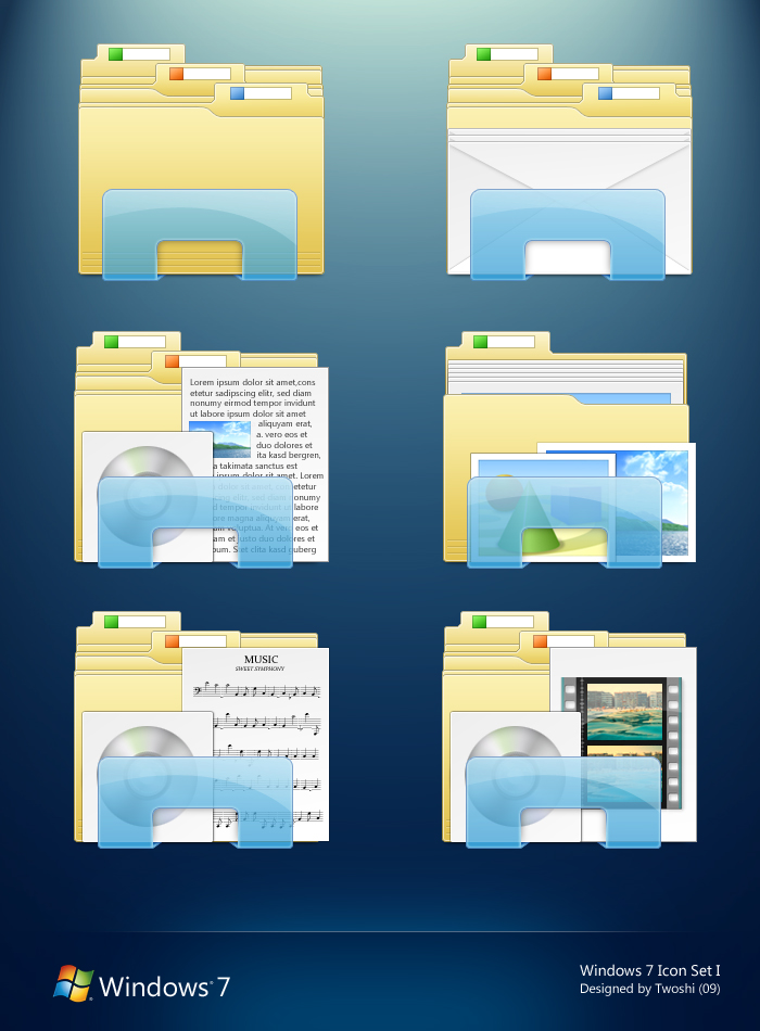17 Multicolor Folder Icons For Windows 7 Images