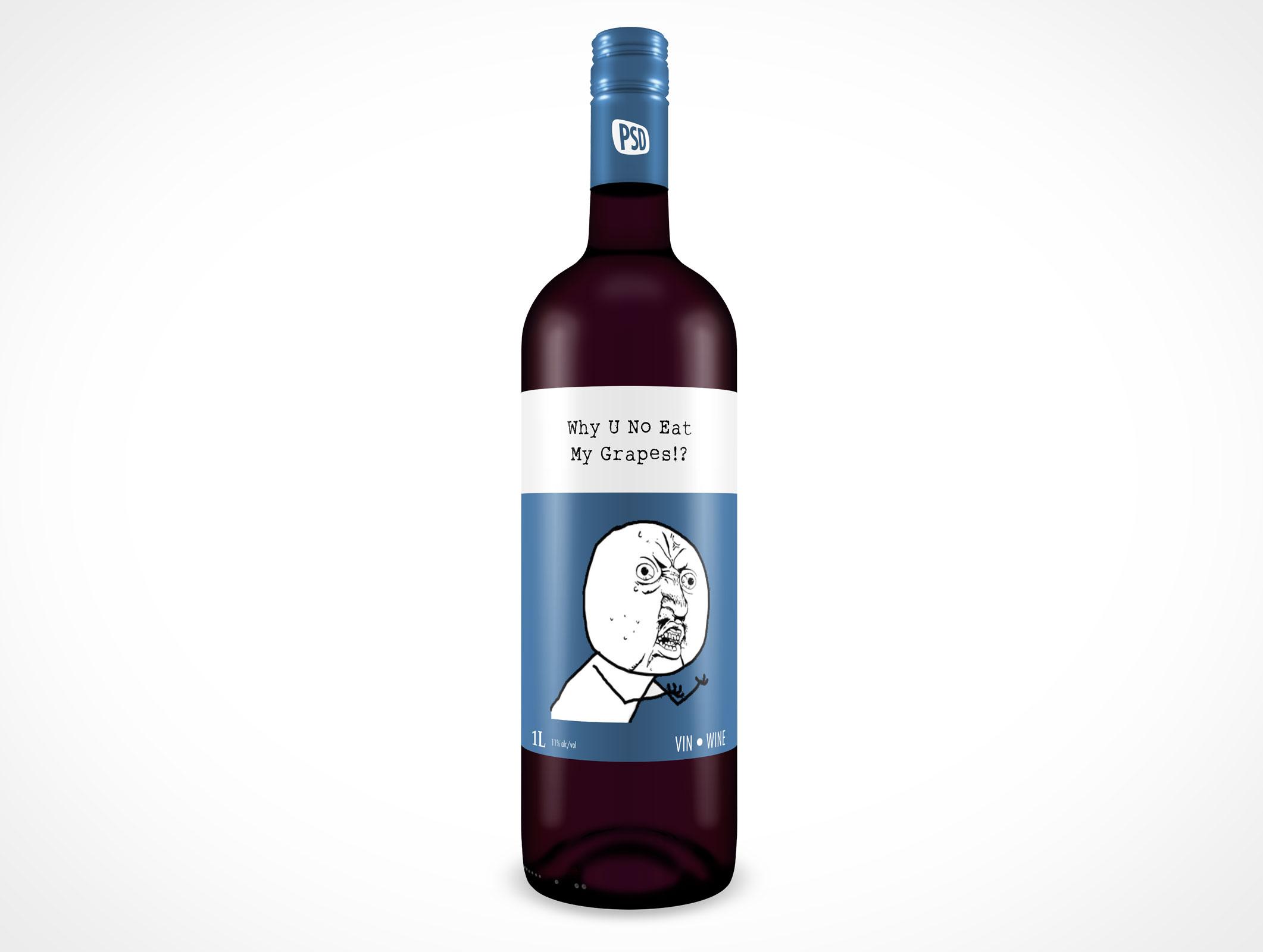 10 Glass Bottle Mockups Psd Free Images