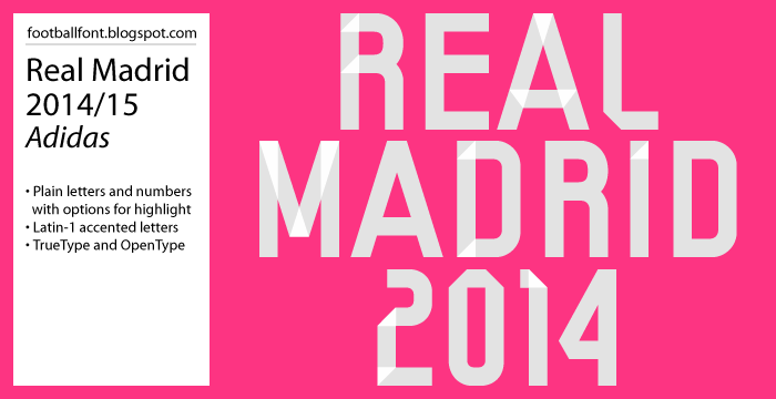 2014 2015 Real Madrid Numbers Font