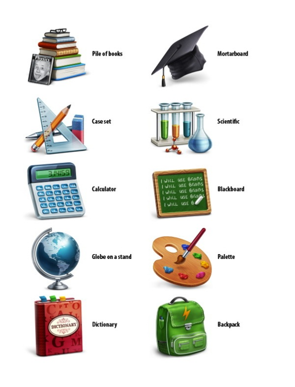 Academic Learning Icons
