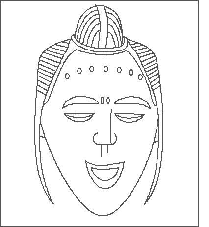 13 African Mask Template Images African Mask Coloring