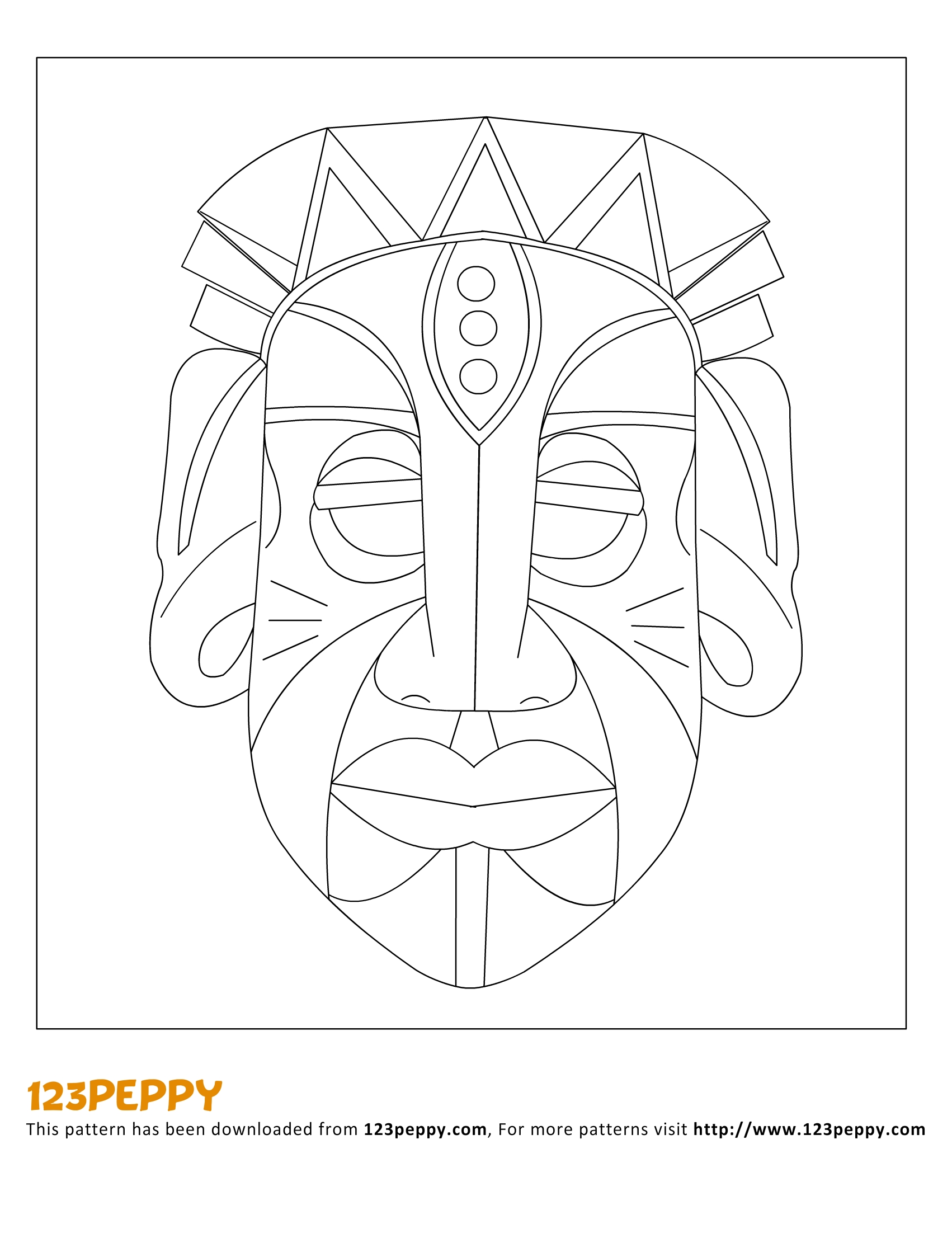 children s mask templates - 13 african mask template images african mask coloring