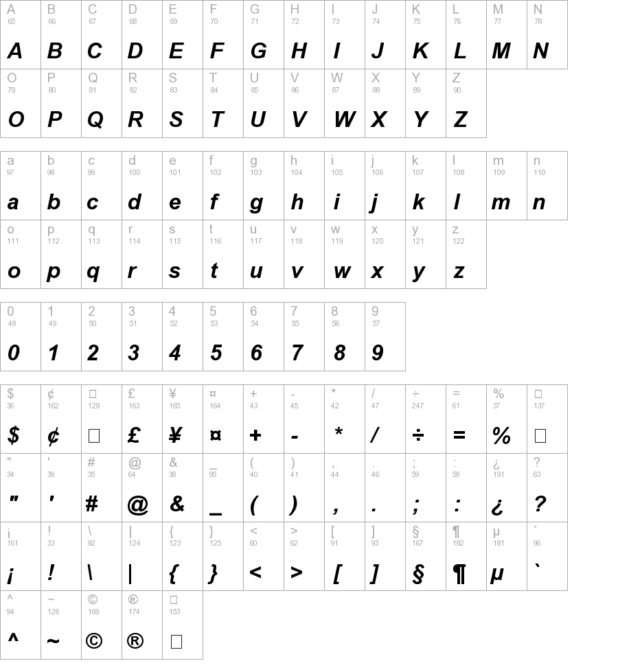 12 Arial Italic Font Images
