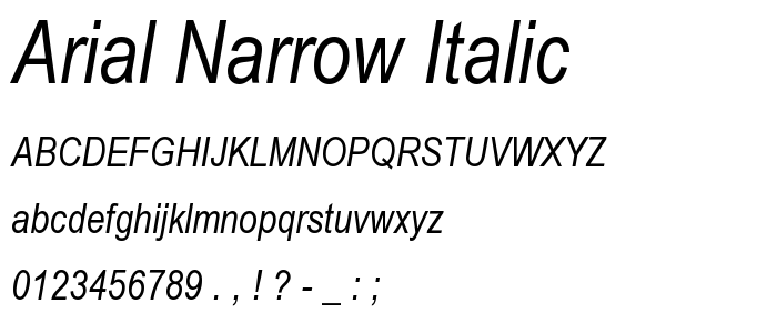 Arial font family free download.