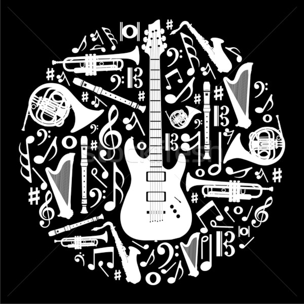 12 Cool Music Designs Black Images
