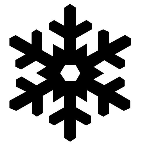 Black Snowflake Icons
