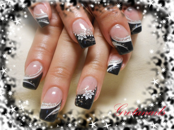 White tip nail art designs images nail art and nail design ideas 13 black and white nail tip designs images black with white tip black white tips nail prinsesfo Gallery