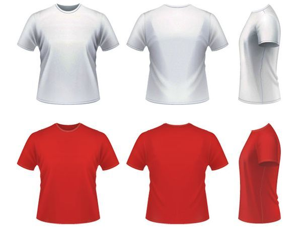 13 T-Shirt Vector Template Images