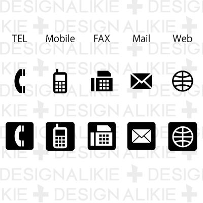 16 Telephone Business Card Icons Images