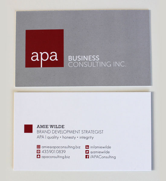 Business Cards with Social Media Icons
