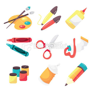 Cartoon Art Supplies