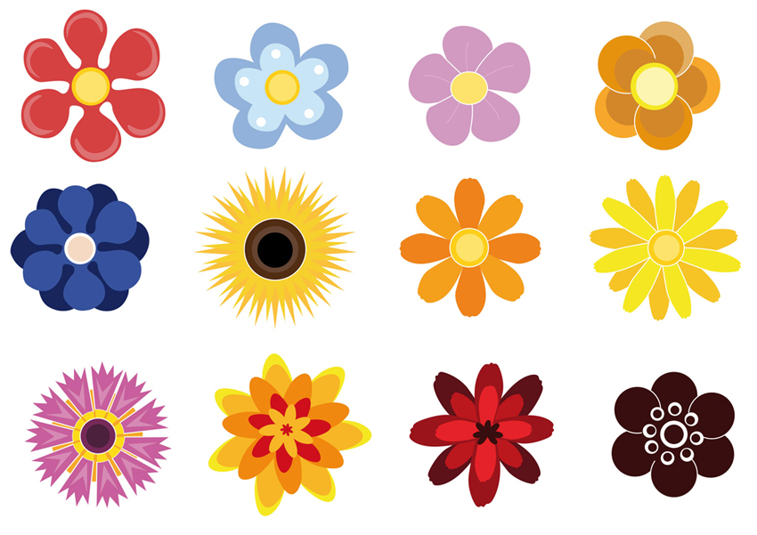 14 Cute Flower Clip Art Vector Images