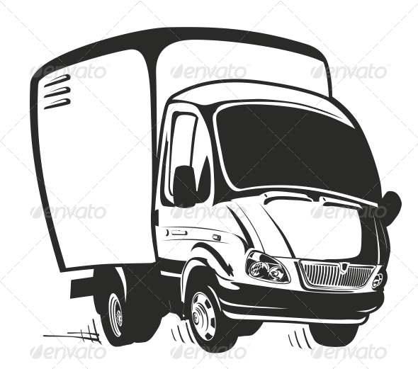 Cartoon Delivery Truck Clip Art