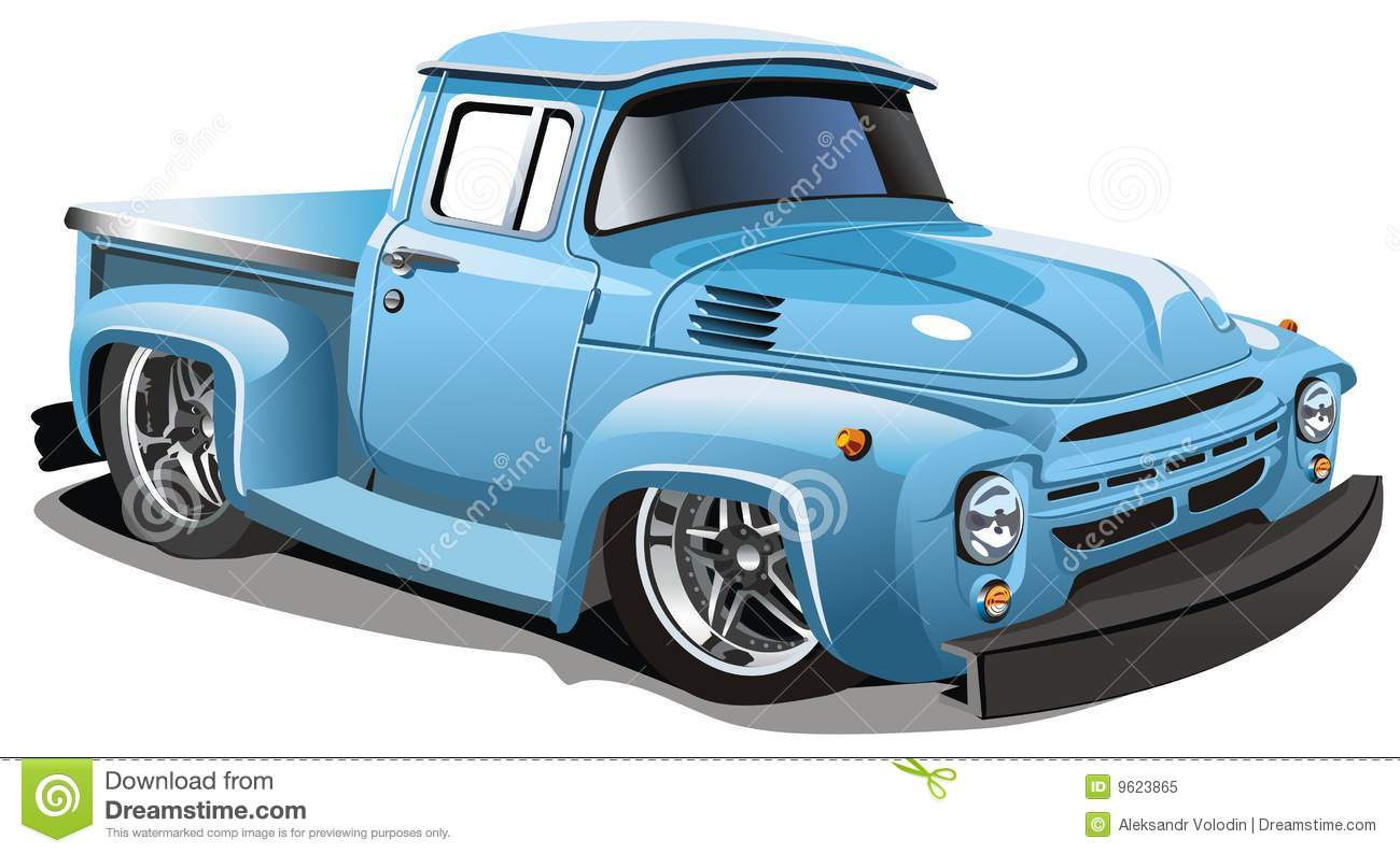 Cartoon Pickup Truck Vector