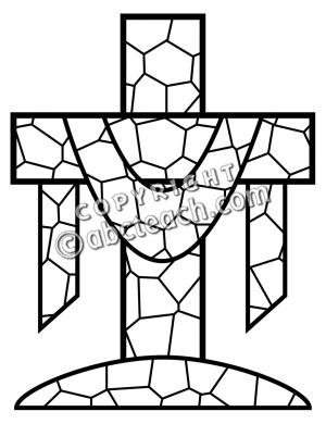Christian Easter Clip Art Black and White