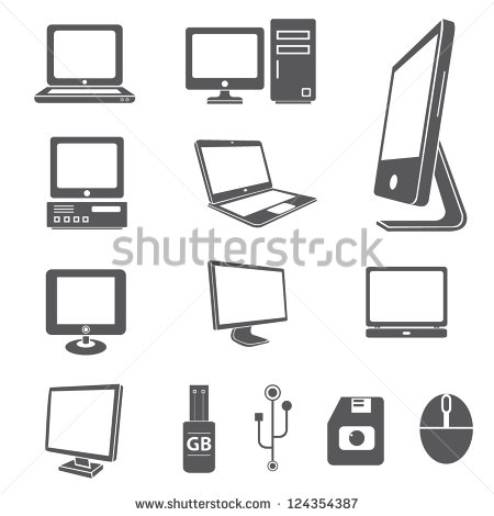 Computer People Icons Vector