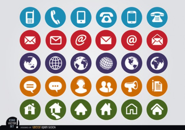 Contact Icons Vector Free