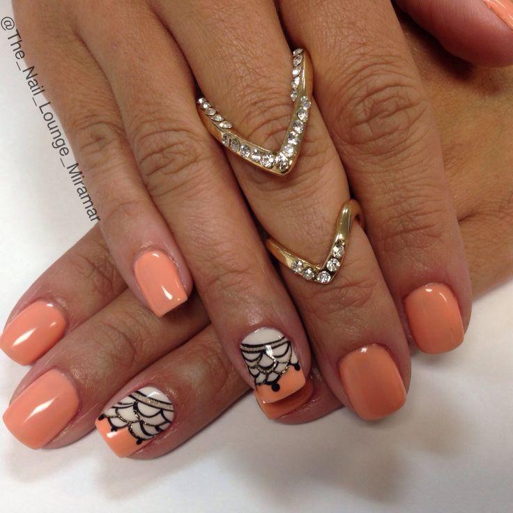 Coral Gel Nail Designs