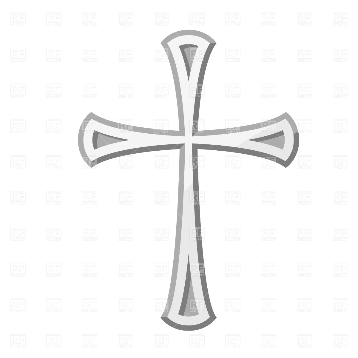 14 Free Vector Religious Cross Clip Art Images