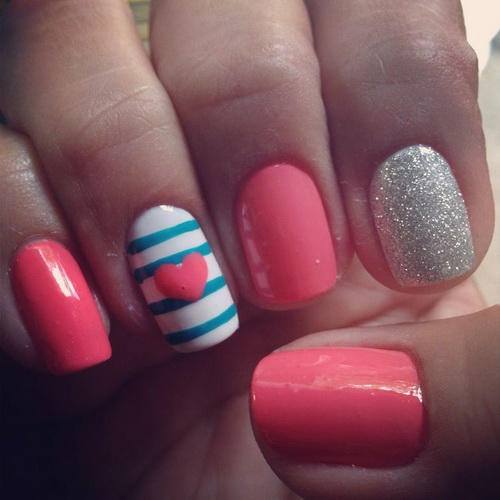 13 Cute Easy Nail Polish Designs Images