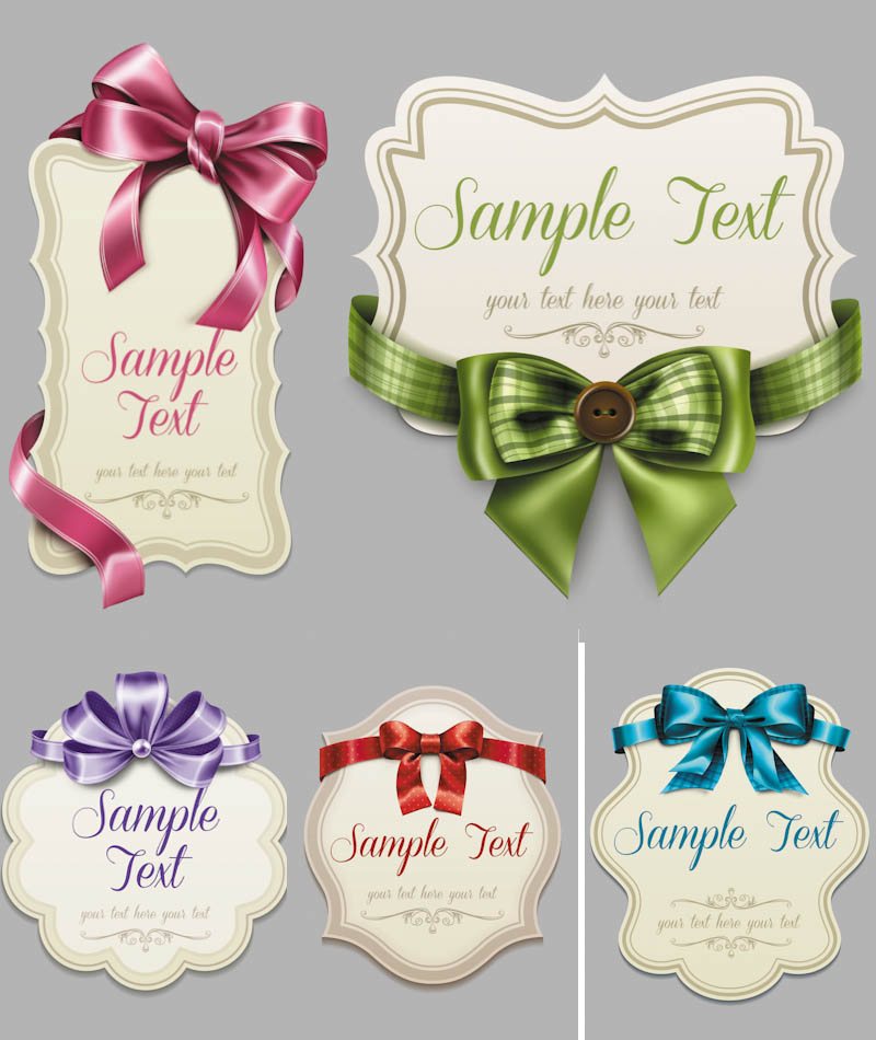 Decorative Ribbons and Bows