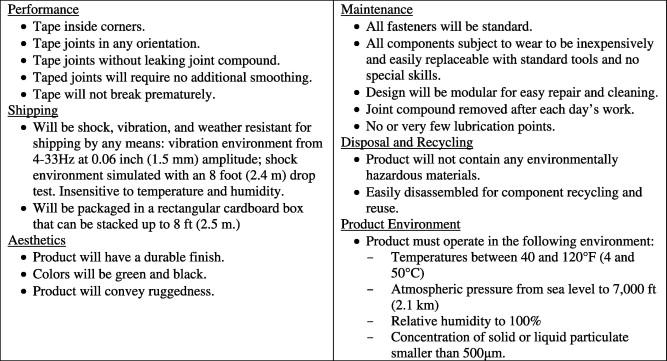 technical specification template example - 6 design description document template images design