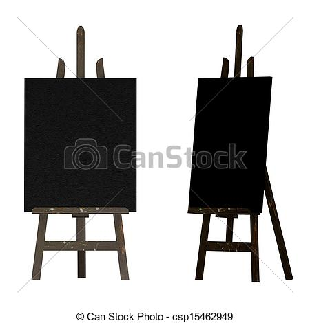 Easel and Art Supplies Clip Art